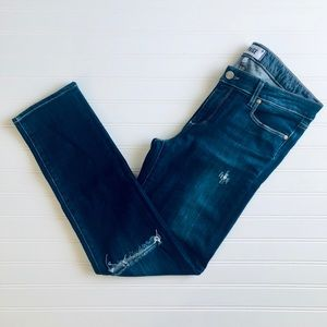 PAIGE Skyline Ankle Peg Ripped Skinny Jeans